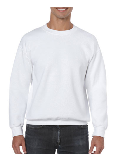 18000 Heavy Blend Adult Crewneck Sweatshirt - White