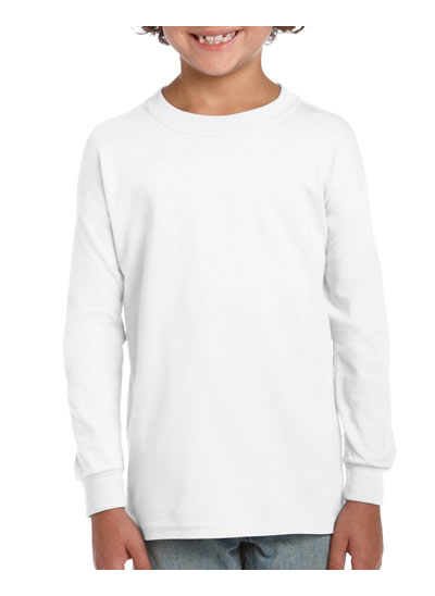2400B Ultra Cotton Youth Long Sleeve T Shirt - White