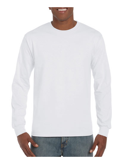2400 Ultra Cotton Adult Long Sleeve T Shirt - White