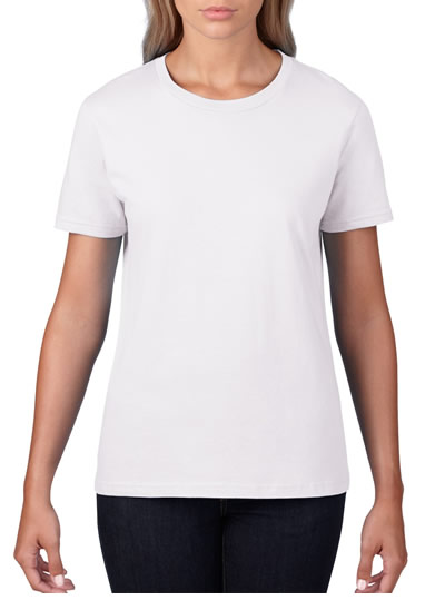4100L Premium Cotton Ladies T-Shirt - White