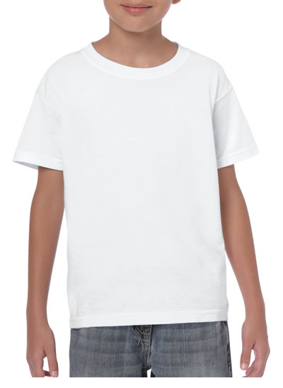 5000B Youth 180GM Cotton T-Shirt - White