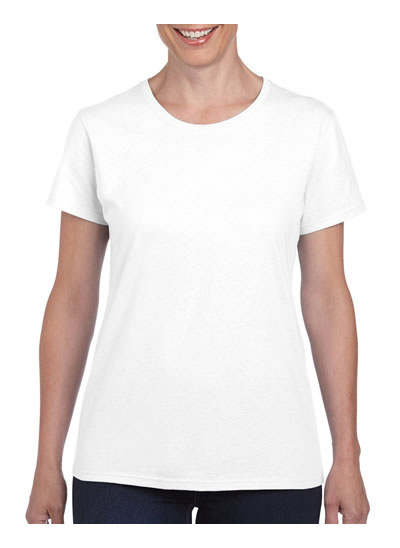 5000L Heavy Cotton Missy Fit T-Shirt - White