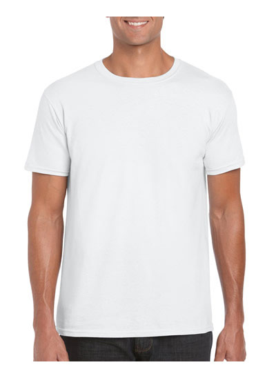 64000 Softstyle Adult Ring T Shirt - White