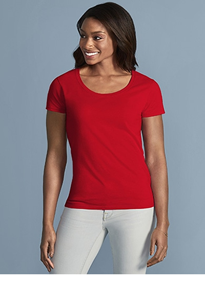 64550L Gildan Softstyle® Ladies' Deep Scoop T-Shirt