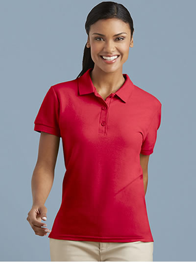82800L Gildan® Premium Cotton [TM] Ladies' Double Piqe Sport Shirt