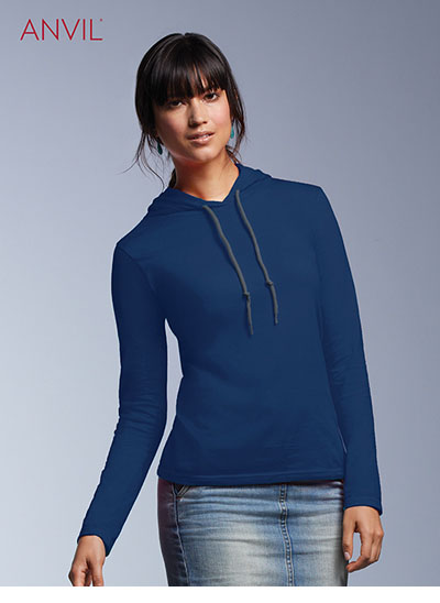 887L Women's Lightweight Long Sleeve Hooded Tee