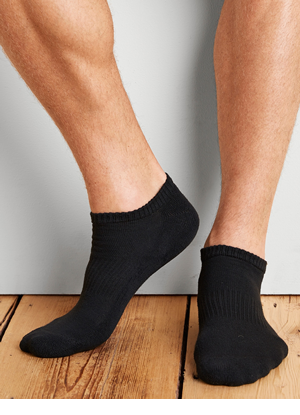 GP711-6MBK-01 Gildan Platinum No Show Socks (Black)