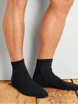 GP731-6MBK-01 Gildan Platinum Ankle Socks (Black)