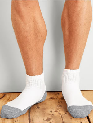 GP731-6MGF-01 Gildan Platinum Ankle Socks (White)