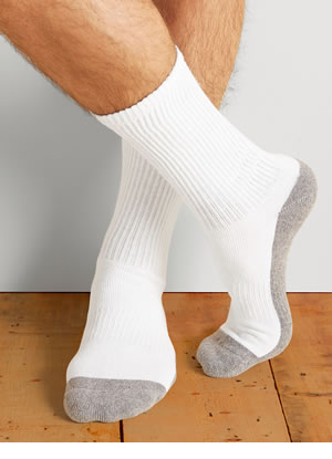 GP751-6MGF-01 Gildan Platinum Crew Socks (White)